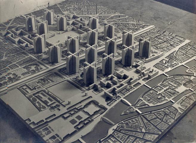 Le Corbusier Maquette du Plan Voisin pour Paris